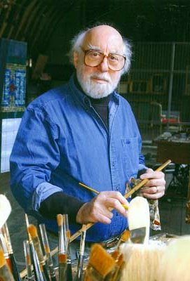 Daniel Greene in his studio