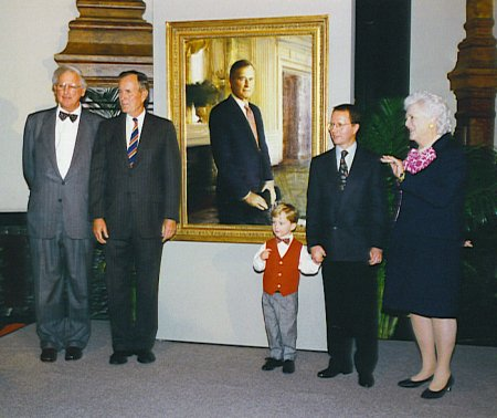 Unveiling of the portrait of President George Bush at the National Portrait Gallery