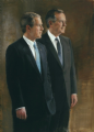 President George W. Bush and President George H. W. Bush
